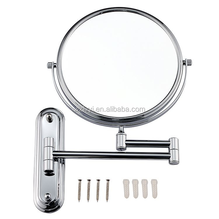 Best selling novel design wrought iron wall mount cosmetic mirror in many style