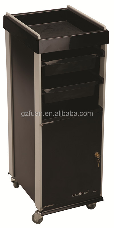 Beauty salon furniture used nail salon equipment drawer storage trolley for sale