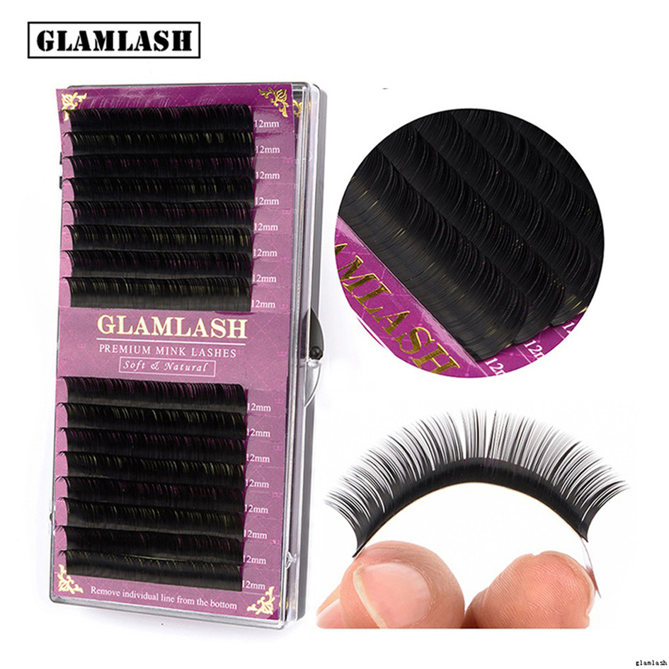 GLAMLASH 3d Mink Cluster Lashes 6/8/9/10/<strong>11</strong>/12/14mm C <strong>J</strong> Curl Soft Individual Eyelash