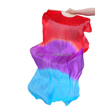 Professional women Chinese Silk Belly Dance Fan Veils