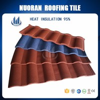Metal Corrugated Colorful Stone Coated Light Weight Spanish Tile Roof