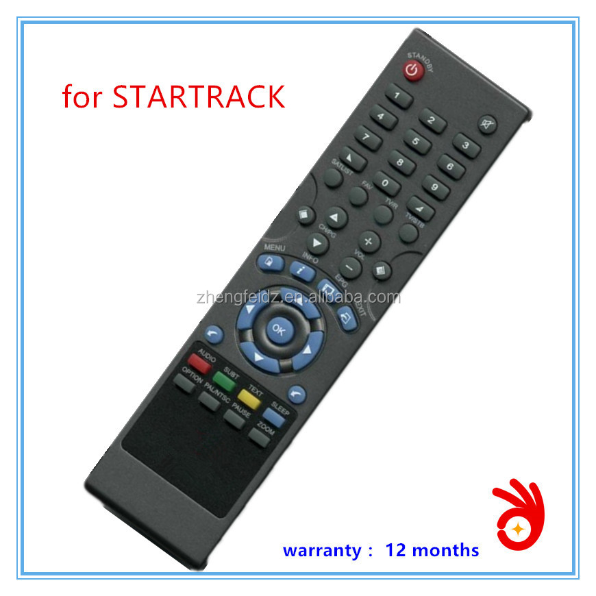 newest top sales set top box digital satellite receiver remote control for startrack
