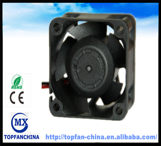 middle speed waterproof dustproof and fireproof micro cooler PBT fan with CE and ROHS 40mm*40mm*28mm dc motor fan 12V