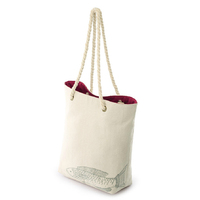 Promotional lady Cheap canvas tote handbag with cotton rope handle