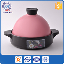 New unique design pink lid stoneware casserole cooking pot
