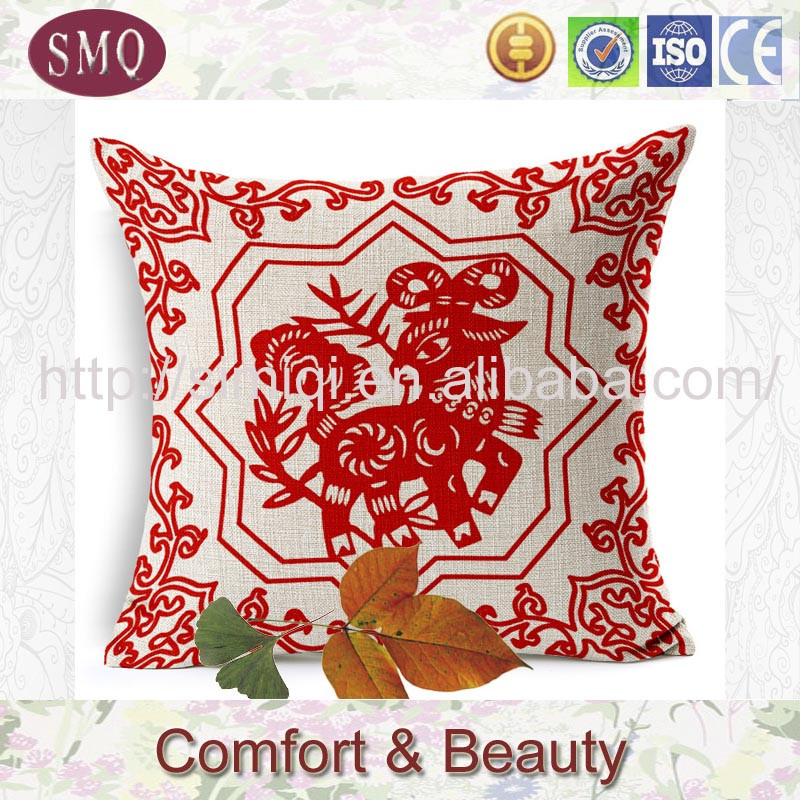 traditional China style pillow blanket that folds into pillow cushion cover funky cushions linen cushion