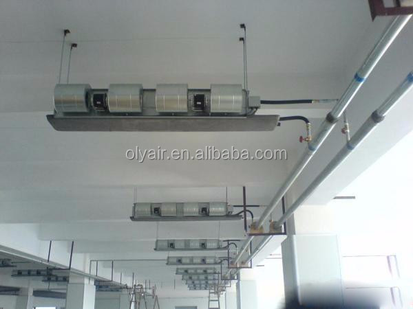 OlyAir Horizontal concealed Fan coil unit, hot water fan coil unit, chilled water central air conditioner fan coil unit