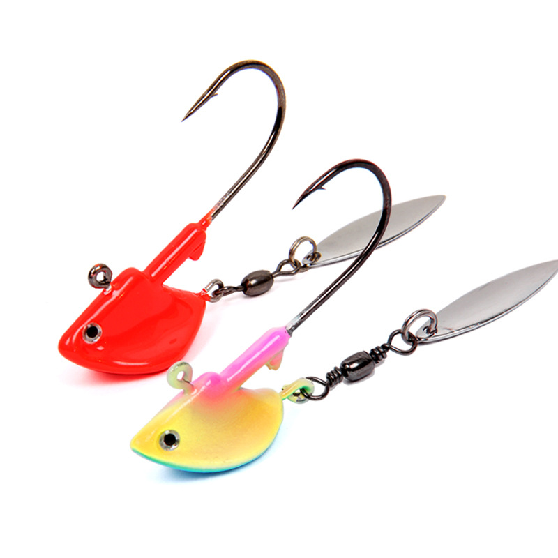 High quality jig head with spinner fishing bait