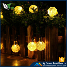 Solar Light Chain Color Crystal Ball Solar Fairy Lights String Trees Christmas Party Garden Outdoor Light