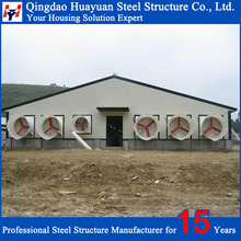 Large span H beam Pre-engineered steel structure layer poultry farm
