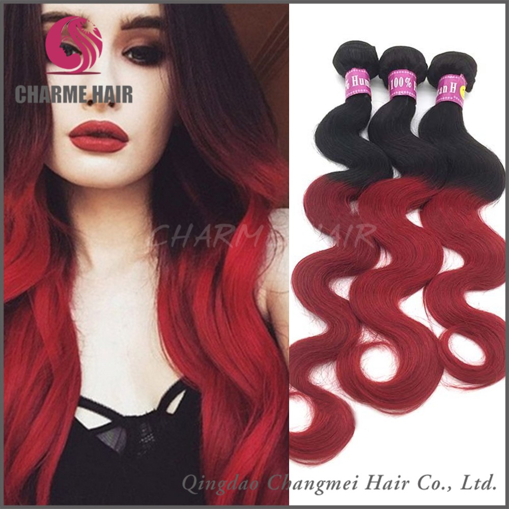 2017 High Quality Red Indian Remy Hair Weave
