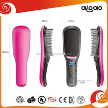 Rubber painting mini vibration and ionic hair massage brush Electric Fast electronic Hair Straightener Comb