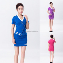 Sexy Air Airline Stewardess Uniform Cosplay Hostess Cabin Crew Fancy Dress Costume AGC4195