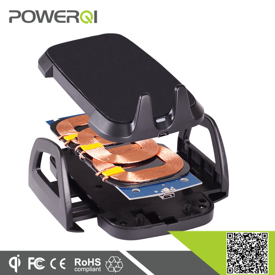 Powerqi C3 Qi enabled suction mount car holder,car wireless charger for Samsung S6