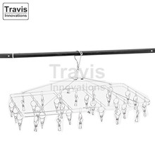 Clips Laundry Drying Hanger Rack, For Underwear Stainless Steel Hanger