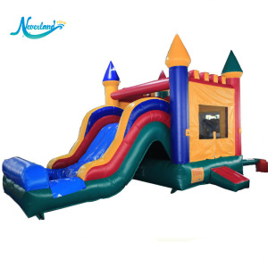 China Bouncing Jumpy Castle Inflatable Bouncer Jumping Bouncy Air Castle Slide With Water Slide For Kids