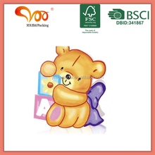 new birthday gift wrapping die cut paper board bear paper carrier bag