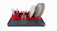 Detachable plastic dish rack for kitchen utensil