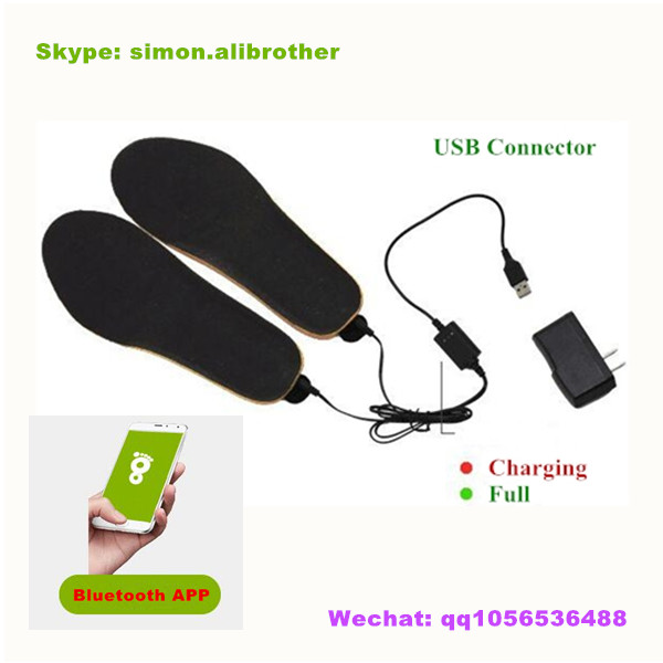 2017 App Bluetooth Remote Heated Insole With Built-in 1900mAh Li-on Battery