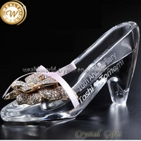 New latest shoes crystal glass decoration cube