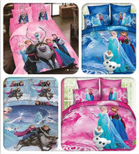 Promotion Brand Frozen Bedding Sets Elsa Anna Bedclothes Quilt Cover Bed line set Twin/Full/Queen/King Kids Bedding Bed Sheets