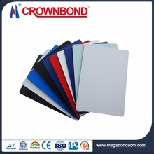 Crownbond CE Standard cheapest exterior wall cladding material,plastic aluminum composite panel,exterior aluminum wall panel