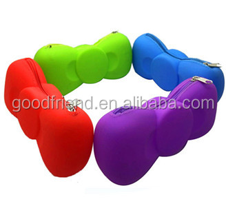 Silicone Pencil Bag School Office Silicone Pen Cases Wholesale Colorful Pencil Bag