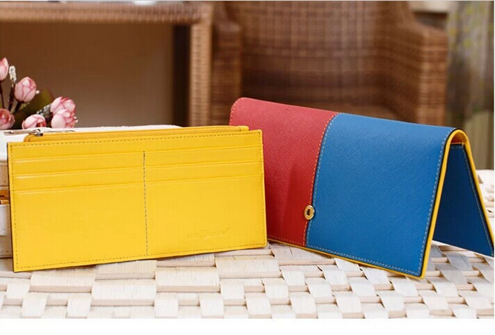 D61845T 2014 FASHION KOREAN HOT SALE WOMEN'S JOINT COLOUR WALLET