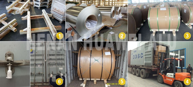 Aluminum coil horizontal packaging