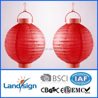 Cixi Landsign solar light factory with 1.2v dragon paper lantern