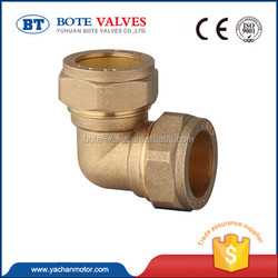 new design brass pipe fitting 22.5 degree elbow valve
