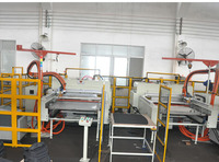 full automatic car trunk mat cutting machine/gluing machine/making machine