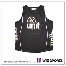Promotional designer on field OEM mens 100% polyester moisture wicking performance basketball jersey