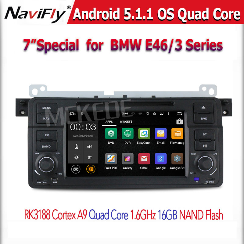 Central multimedia for BMW E46(1998-2005)BMW M3(1998-2005) with Android 5.1