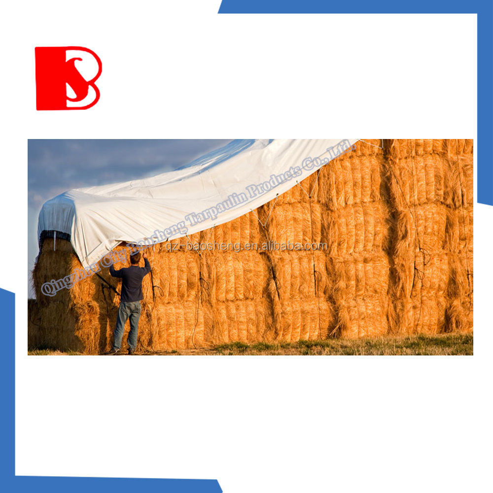 Waterproof Large Insulated Tarpaulin Tarps for Bales of Hay Being Covered