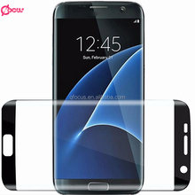 3D full coverage tempered glass screen protector for samsung s7 edge , for s7edge 3D Curved Surf Full Screen Protector Film