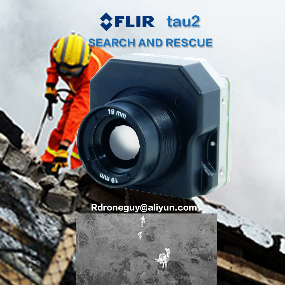 Flir Multiple reading temperature for drone in firework infrared thermal gimbal camera