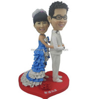 Custom bobblehead, wedding cake topper handmade from photo,creative wedding gift- Wedding party 4, personalized anniversary gift