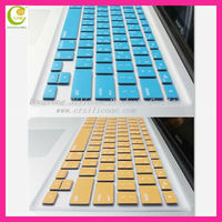 2013 hot sale!!!colorful transparent silicon cover for keyboard for Apple Macbook Laptops