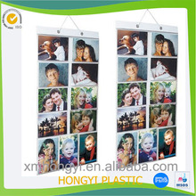 Hot-sell plastic gallery wall/ hanging photo pocket made in Xiamen