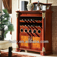 Modern buffet sideboard cabinet with wine rack