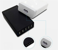 High quality 5V 8A 5 USB Ports Multi Travel Charger