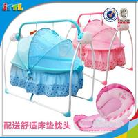 Plastic baby cradle swing automatic swing baby bed new born baby bed made in China