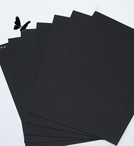 packaging/ printing /wrapping black paper/thin paper board black special paperboard