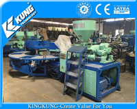 used three color 8 stations PVC strap injection molding machine