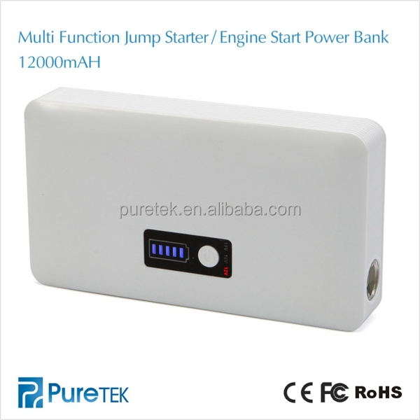 Wholesale NEW Products 12v Car Jump Starter Portable Power Bank 12000mah