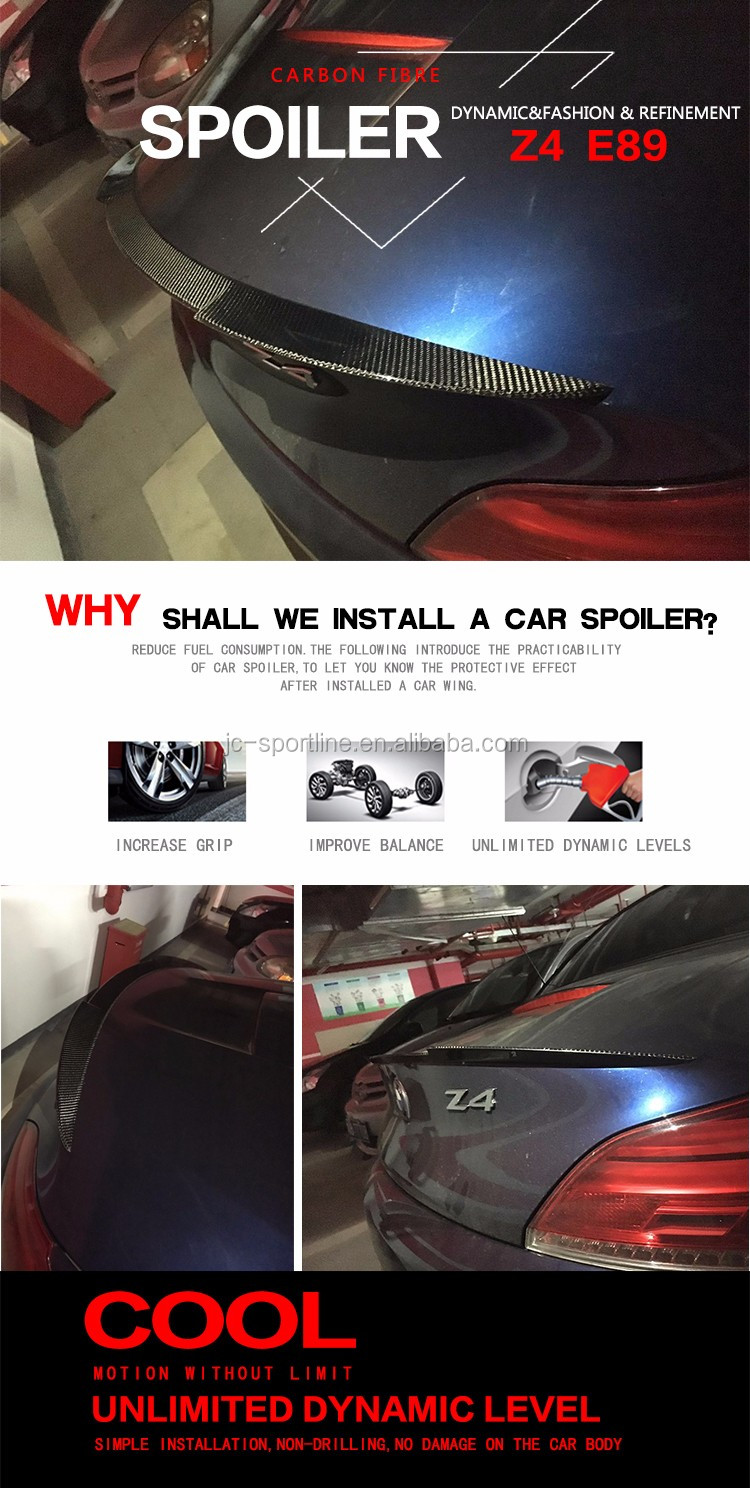 JC Style Carbon Fiber Drafting Spoilers for BMW Z4 E89 Z Series 09-15