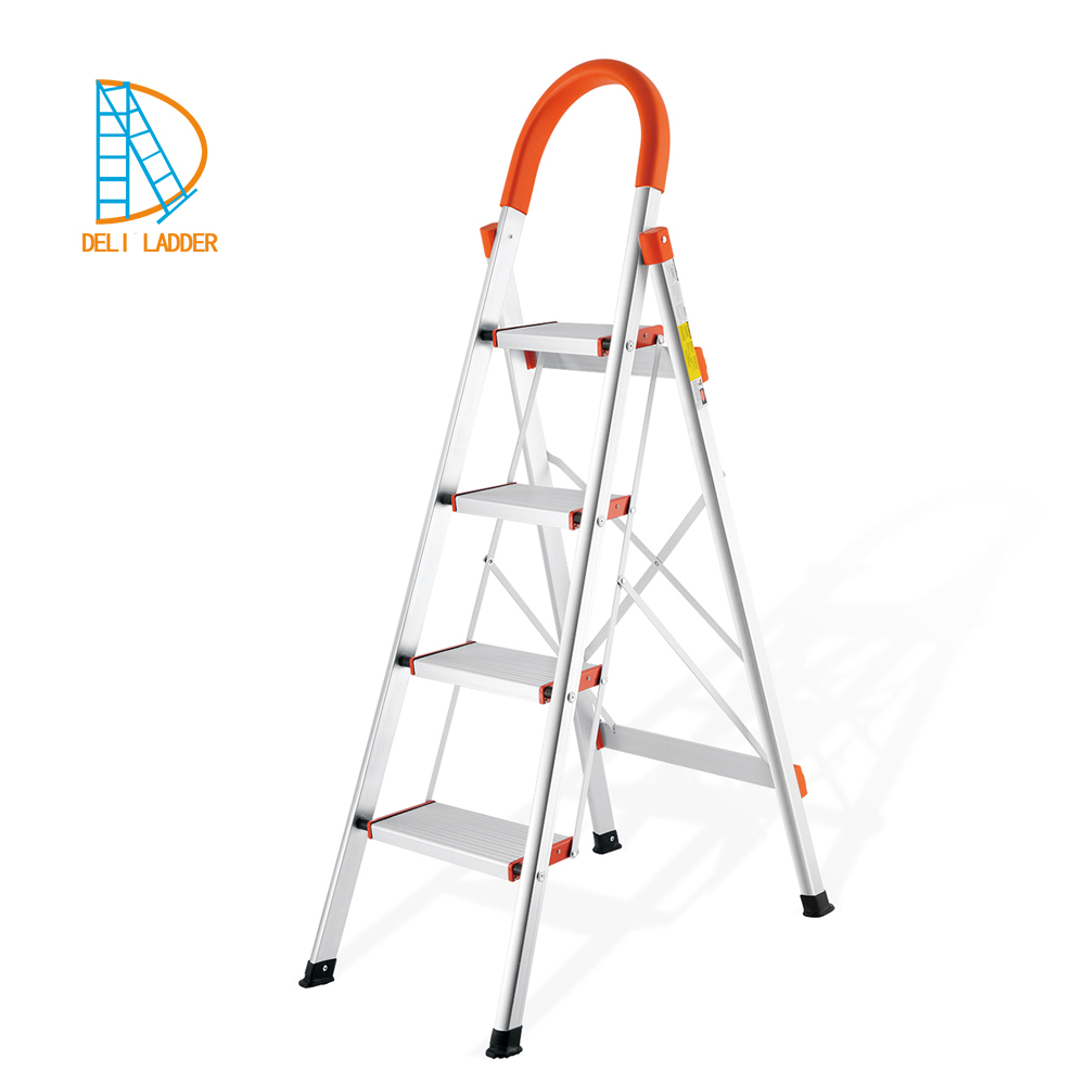 6 steps Kitchen Used Folding Ladder domestic stairs aluminum lightweight step agility ladder