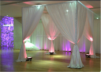 Square Wedding Backdrop design pipe drape for birthday party