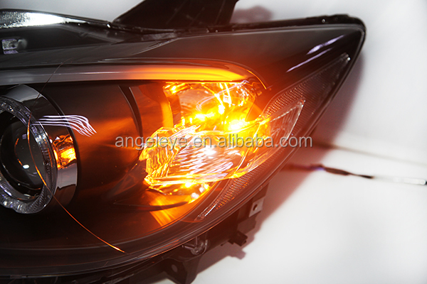 2012 2014 year for mazda cx 5 led strip headlamp with hid. Black Bedroom Furniture Sets. Home Design Ideas